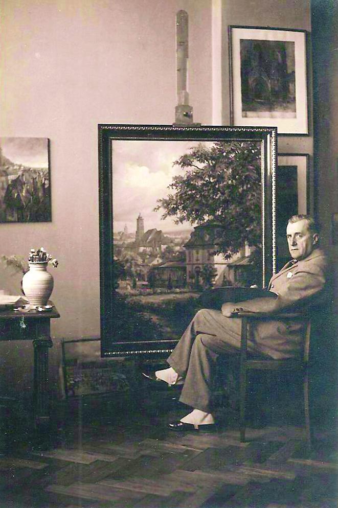 Branko Šenoa u ateljeu