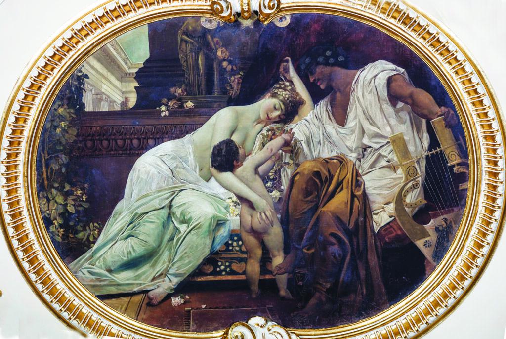 Gustav Klimt, Orfej i Euridika - alegorija poezije, 1885.